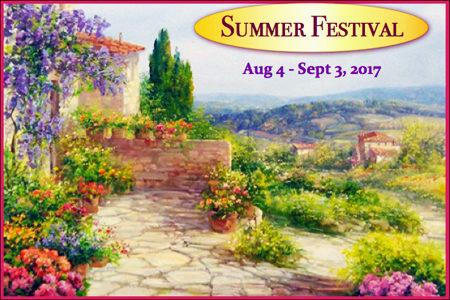 <strong>SUMMER FESTIVAL</strong> <br />August 3 &#8211; September 3, 2017